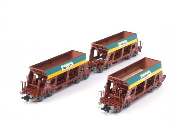 Weiacher Selbstentladewagen für Kiestransport, 3er-Set